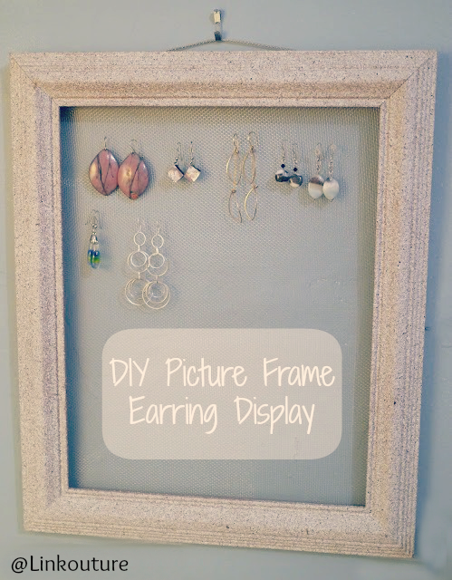 earring holder picture frame
