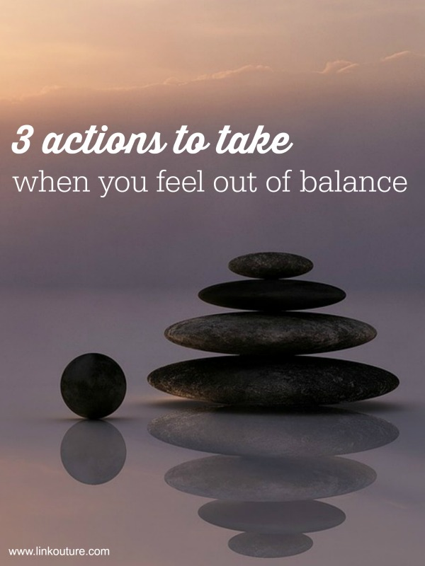 You can't do it all: 3 simple things to maintain balance