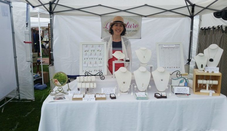 Bev Feldman of Linkouture at Andover Crafts at the Park