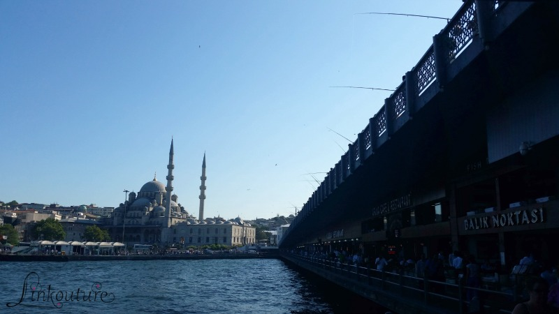 Istanbul along Bosphorus with Mosque in background