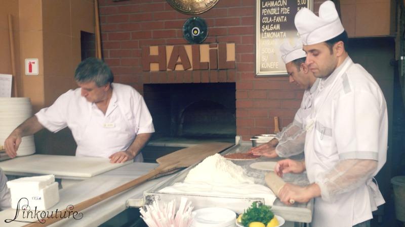 lamachun being prepared in Istanbul