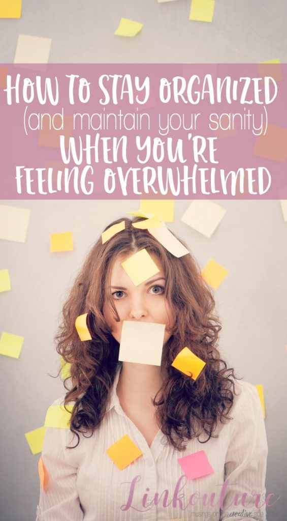 Feeling overwhelmed by everything you have on your plate? Learn how to stay organized at home and in life with these simple little tricks.
