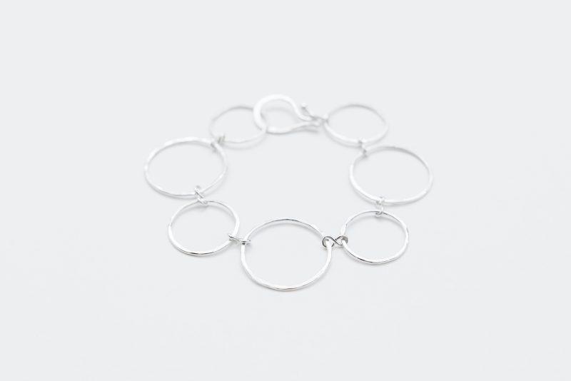 Sterling silver hammered bracelet by Linkouture