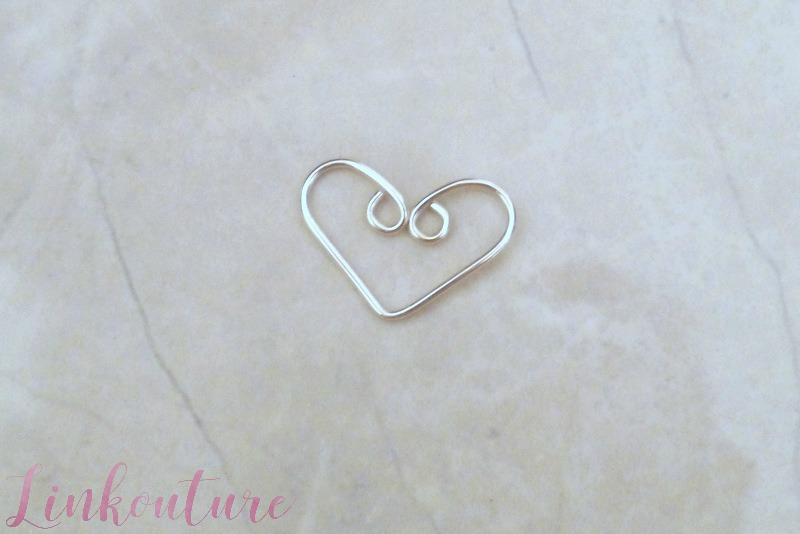 Make a heart charm necklace