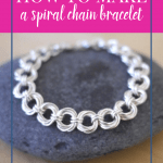 silver chain bracelet on a rock