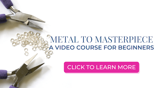 ad for jewelry making video course for beginners